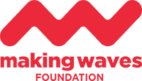 MWF logo centred text red